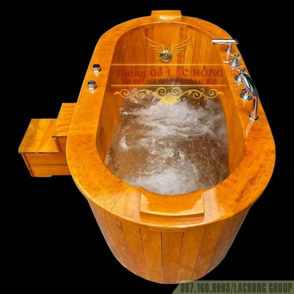 Bồn Tắm Gỗ Pơ Mu Sục Khí Massage Body