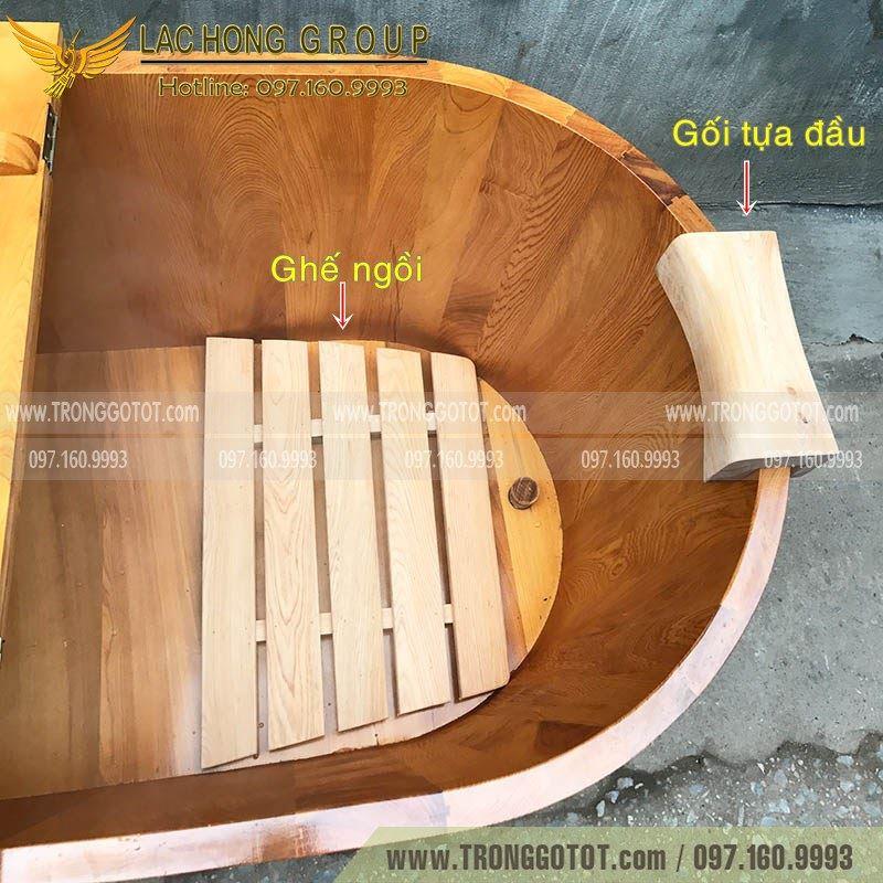 giá bán bồn tắm gỗ