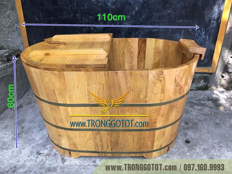 thùng tắm gỗ Pơ Mu