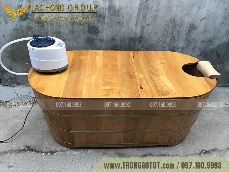 thùng tắm xông hơi gỗ Pơ Mu
