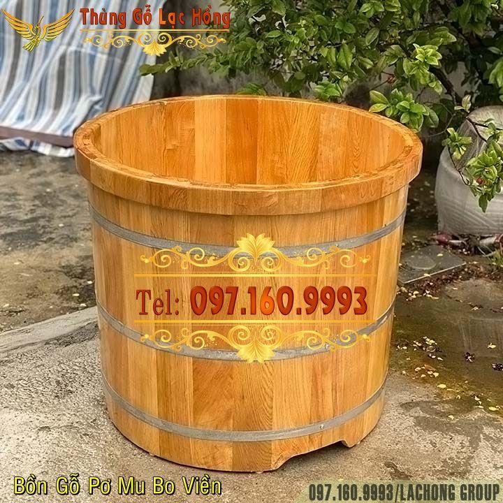 thùng gỗ tắm thuốc bắc