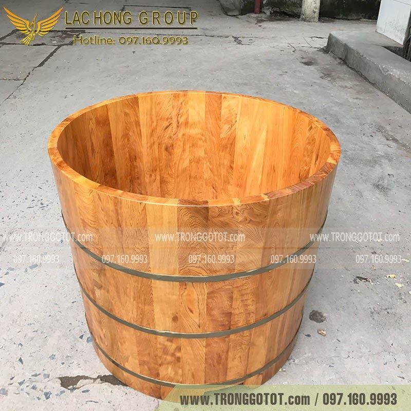 bồn tắm thuốc bằng gỗ