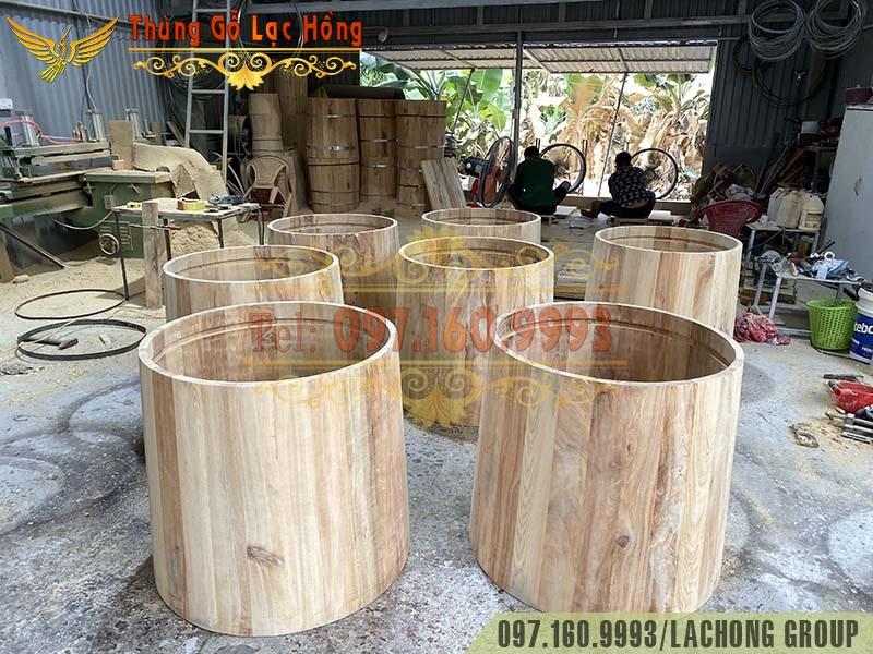 thùng tắm bồn gỗ giá rẻ