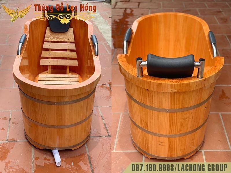 bồn gỗ tắm resort