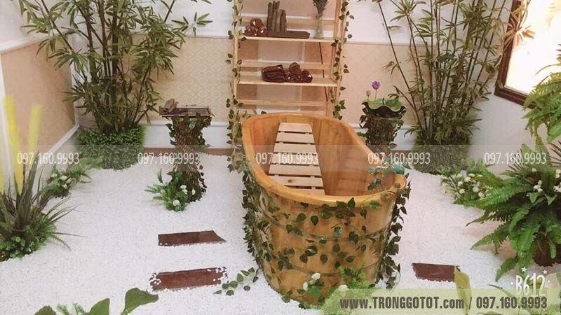 bán bồn tắm gỗ massage