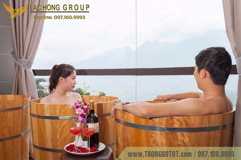 bồn tắm gỗ sapa