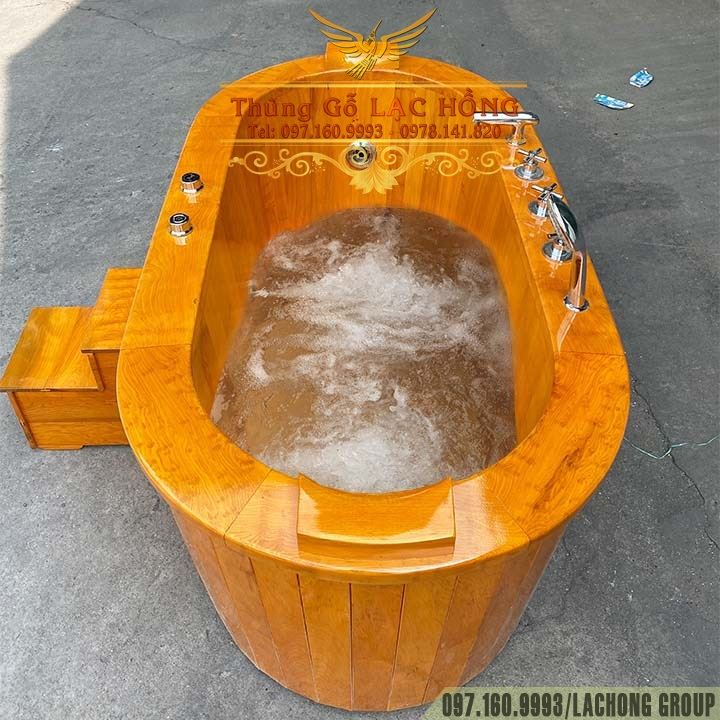 bồn tắm gỗ massage