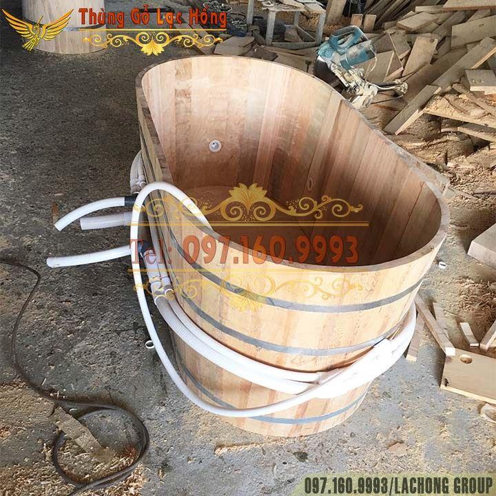 bể tắm gỗ sục sủi massage