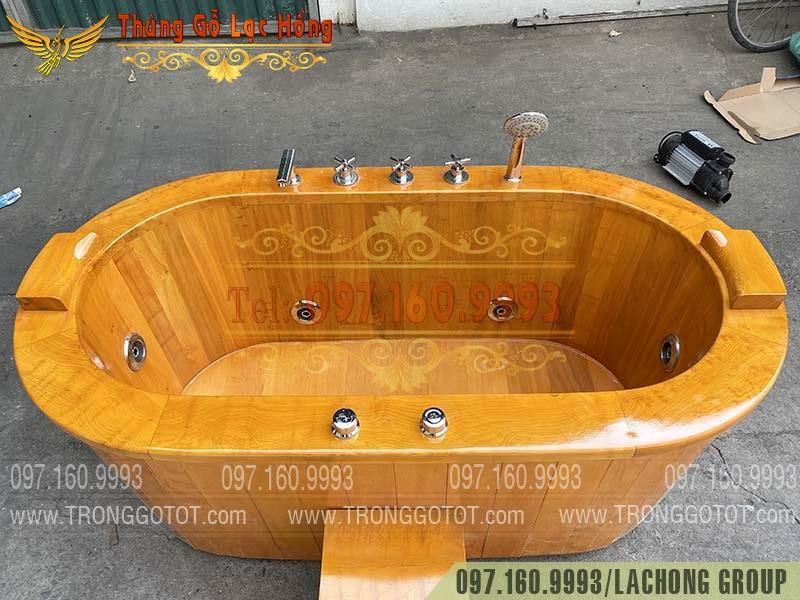 thùng gỗ ngâm thuốc