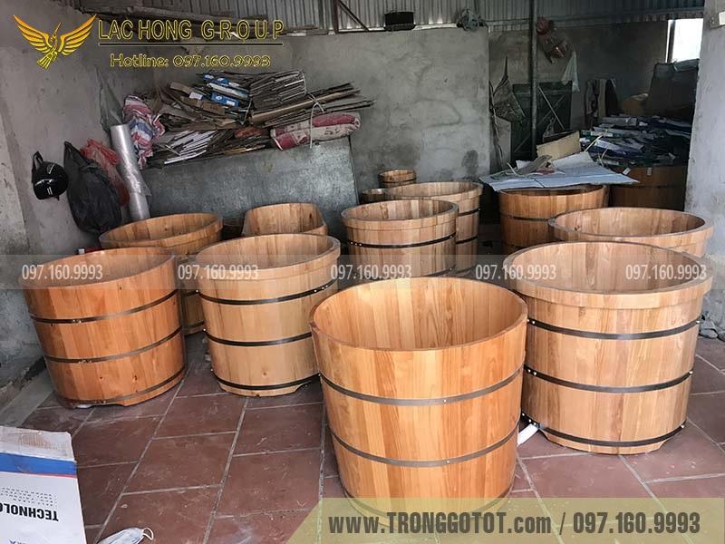 bán bồn tắm gỗ tròn