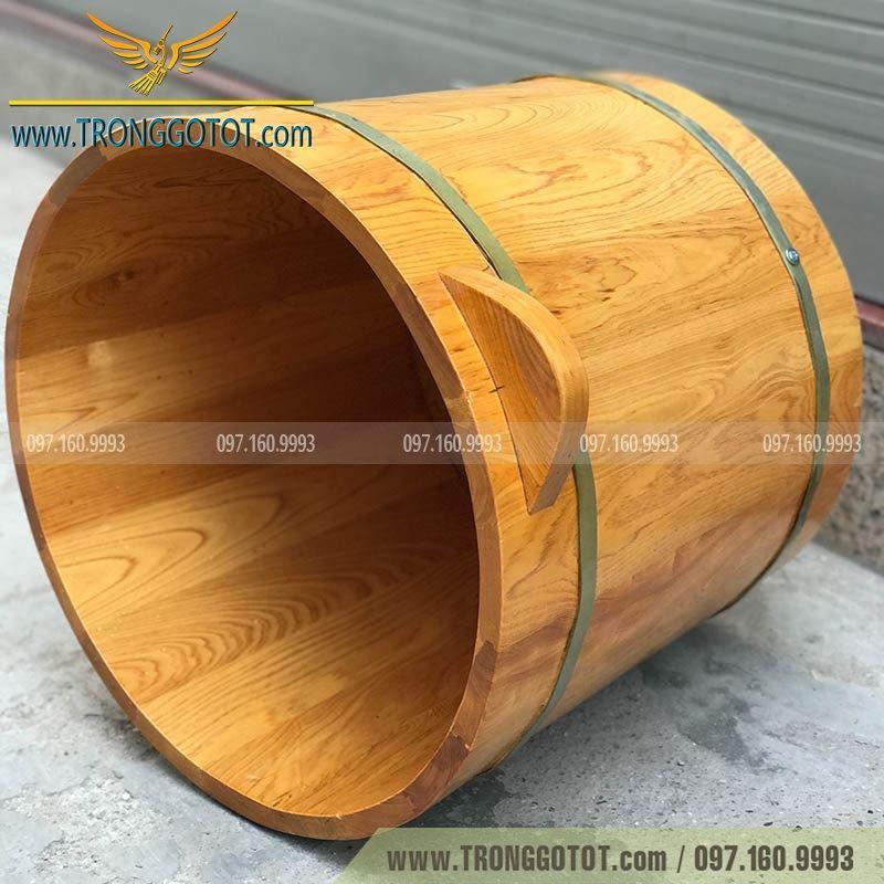 bán chậu ngâm chân bằng gỗ