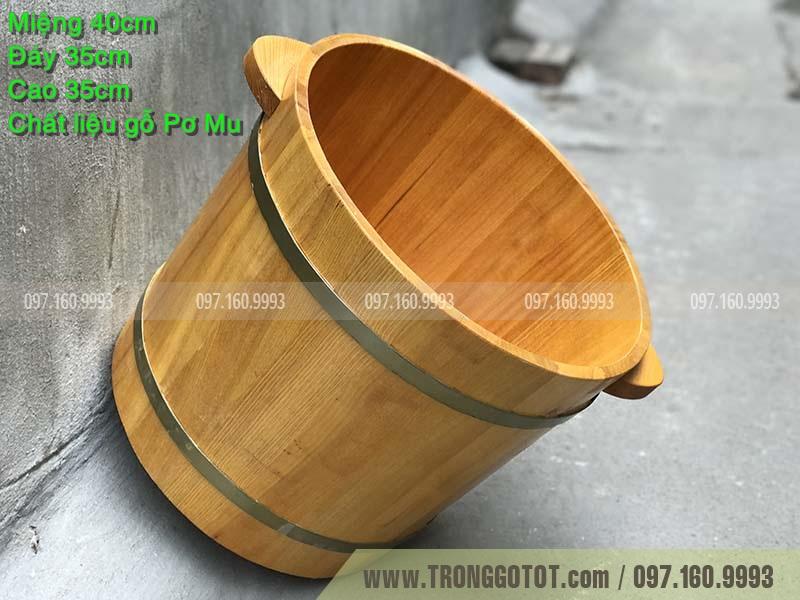 bồn ngâm chân bằng gỗ pơ mu