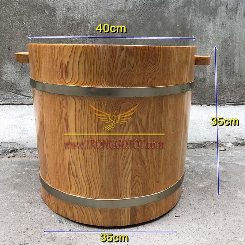 thùng ngâm chân bằng gỗ