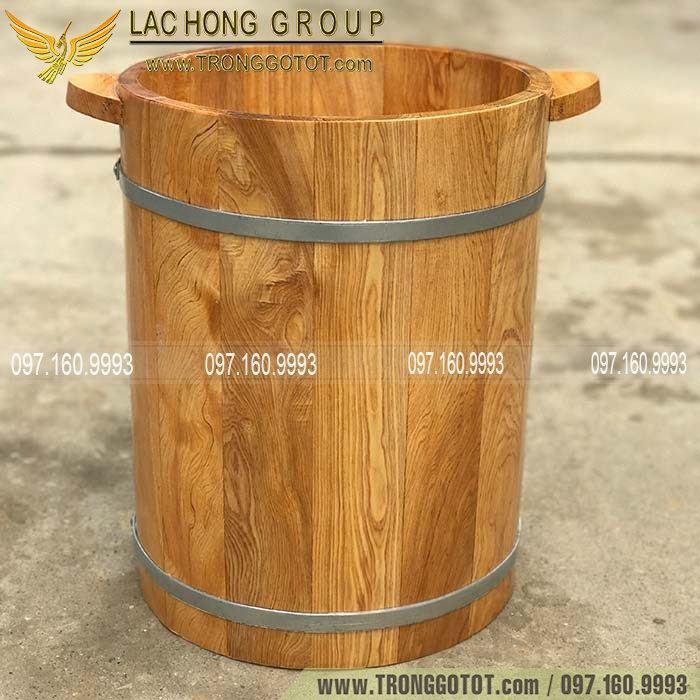 bồn ngâm chân gỗ Pơ Mu