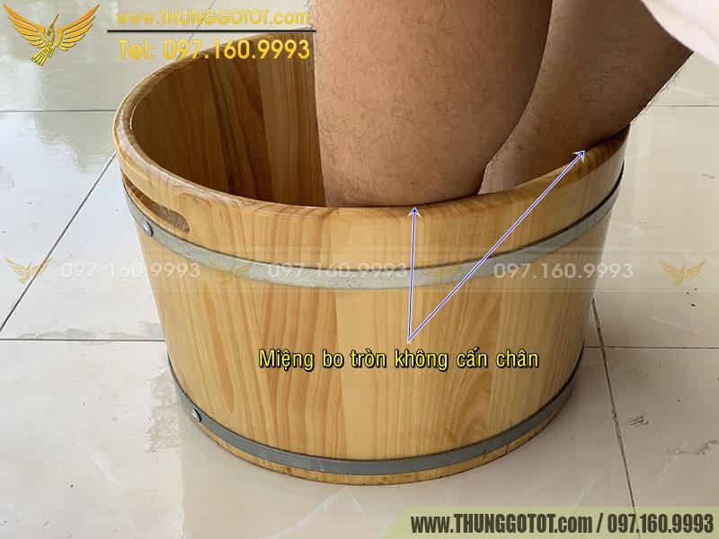 thùng ngâm chân bằng gỗ pơ mu
