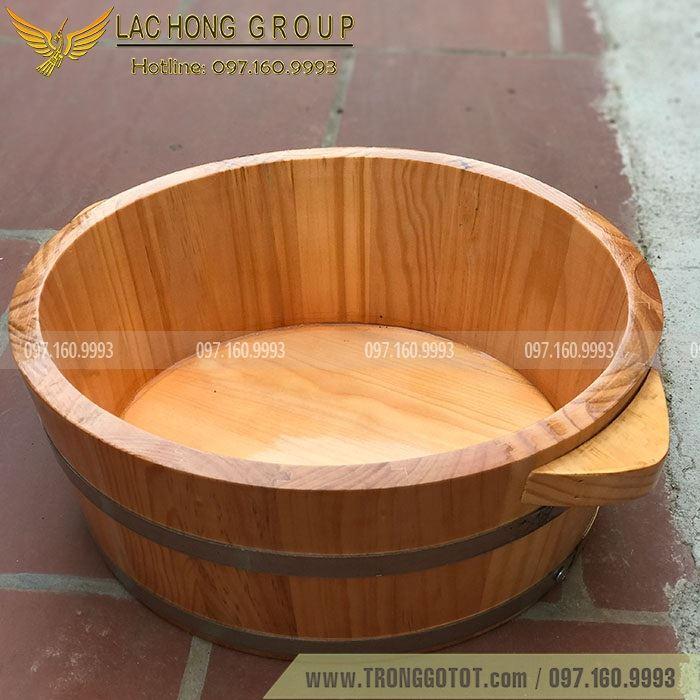 chậu gỗ rửa mặt