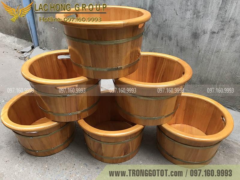 giá bán chậu gỗ ngâm chân