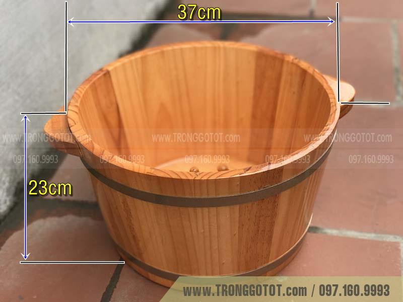 kích thước chậu gỗ ngâm chân