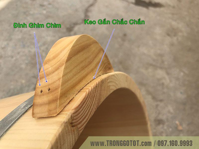 thùng ngâm chân gỗ