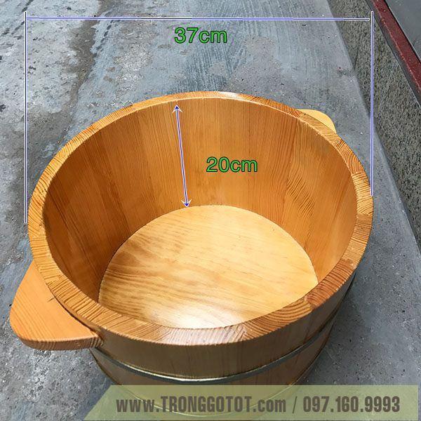 chậu gỗ ngâm chân hà nội