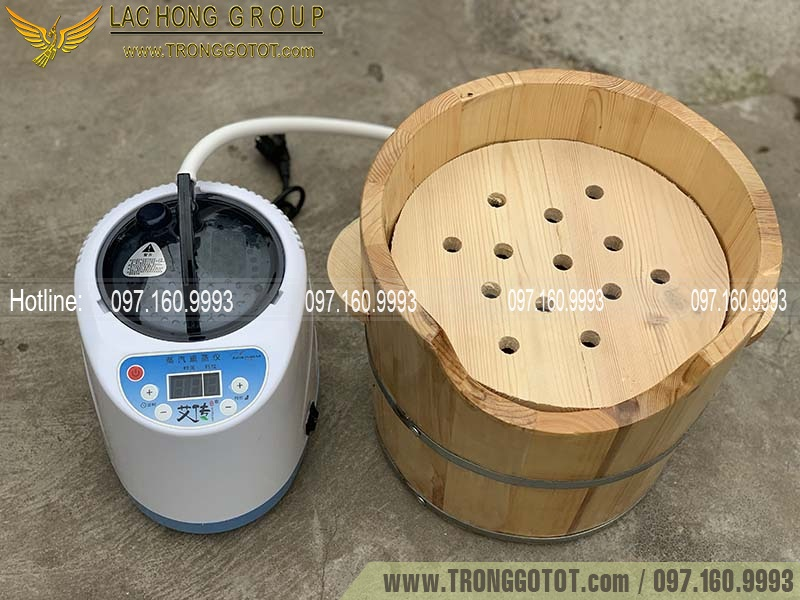 thùng gỗ xông tóc spa