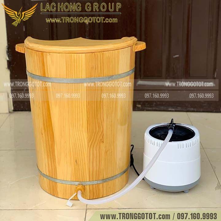 bán thùng xông chân bằng gỗ