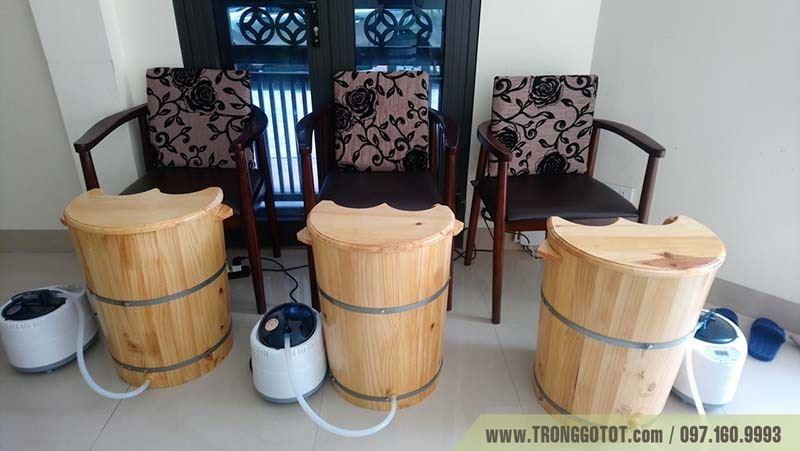 thùng gỗ xông hơi Massage