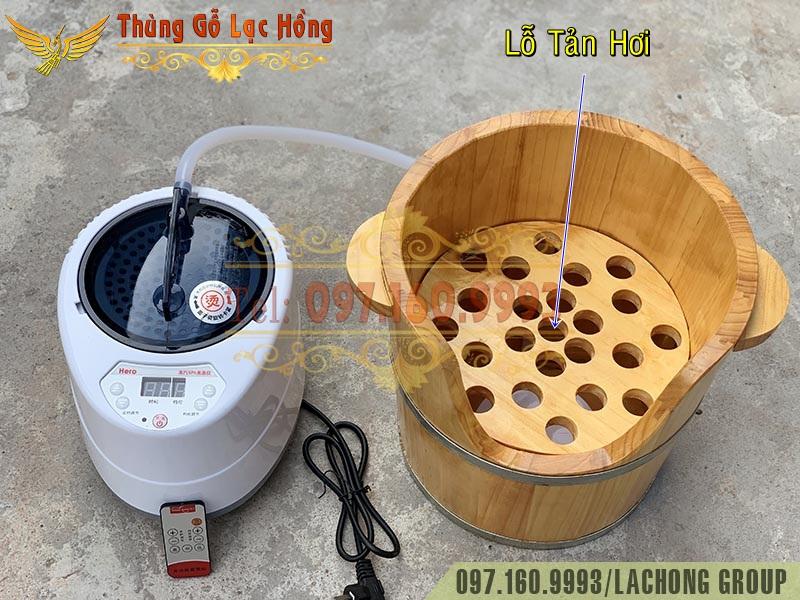 thùng gỗ xông đầu dưỡng sinh
