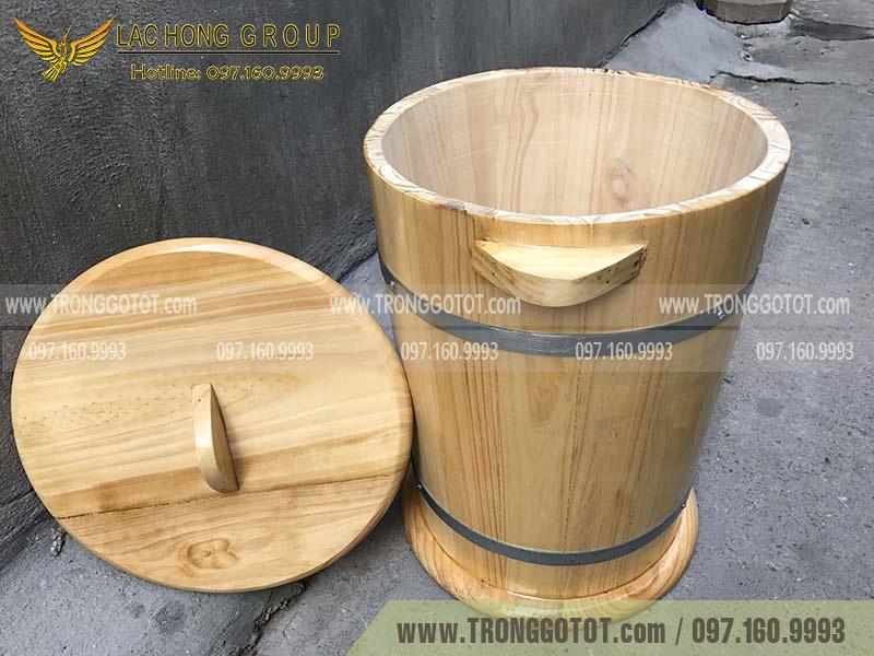 thùng gạo gỗ