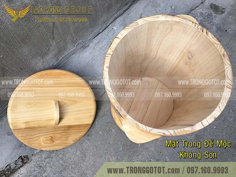 thùng gỗ đựng gạo an toàn