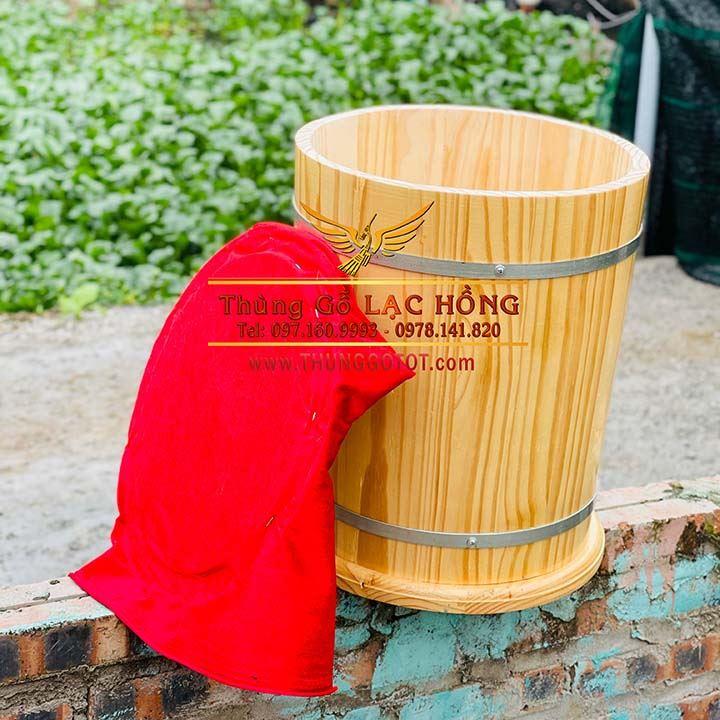 bán thùng đựng gạo gỗ handmade
