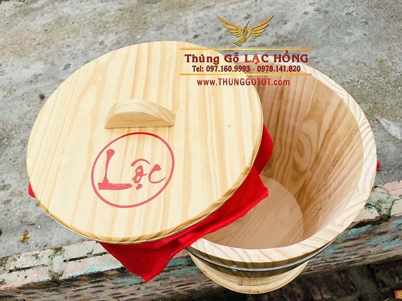 giá bán thùng đựng gạo gỗ