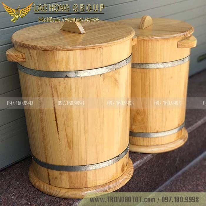 giá bán thùng gỗ đựng gạo