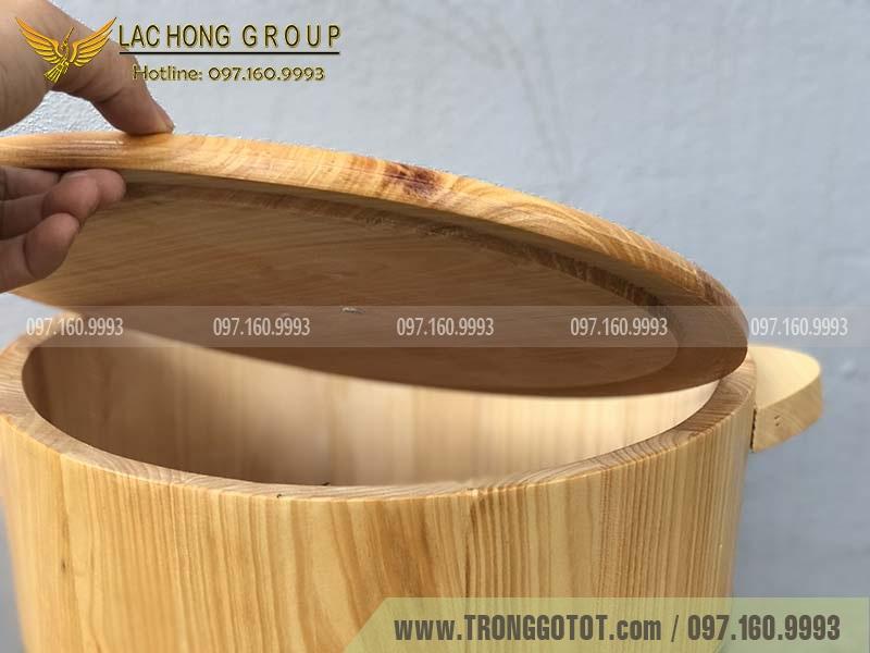 thùng đựng gạo gỗ thông