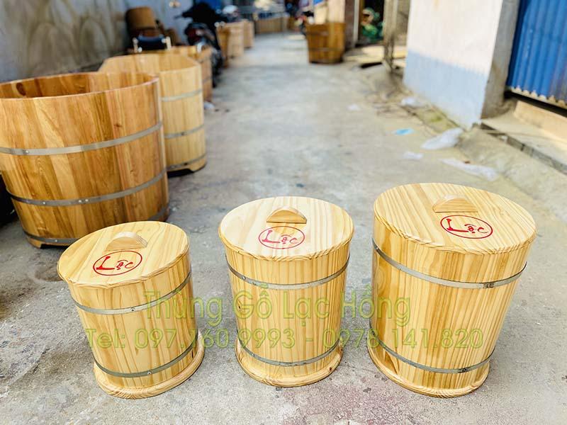 mua thùng gỗ đựng gạo đẹp
