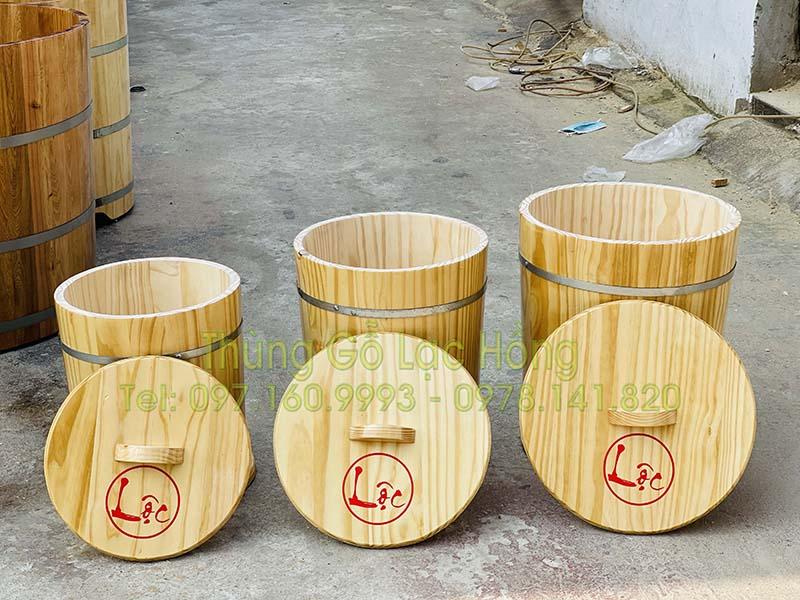 thùng đựng gạo gỗ