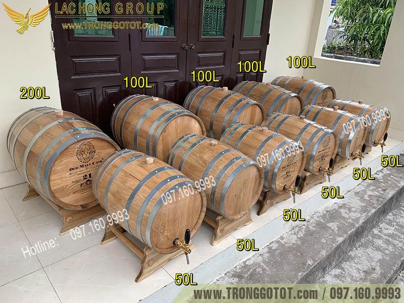 thùng gỗ sồi đỏ nhập khẩu
