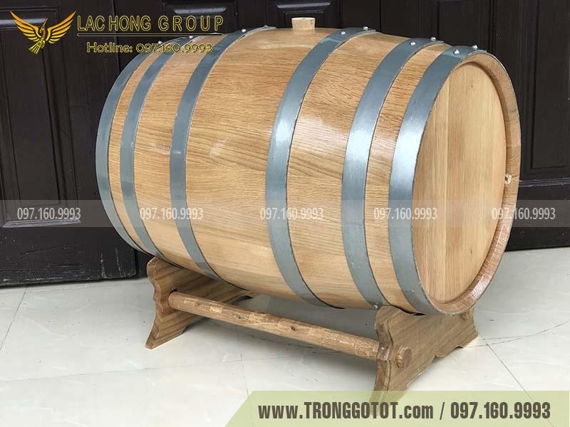 thùng gỗ sồi nhập khẩu