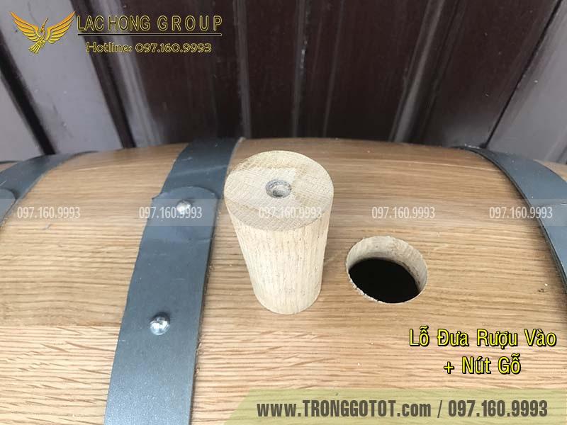 thùng gỗ sồi đỏ