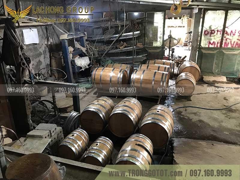 thùng ngâm rượu bằng gỗ