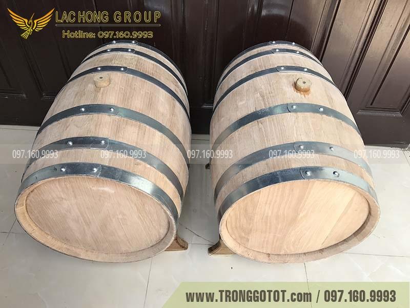 bán thùng gỗ sồi đỏ