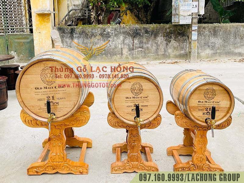 thùng rượu gỗ sồi trắng