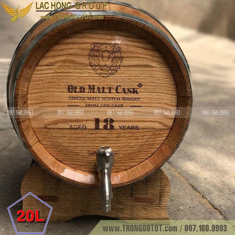 bình ngâm rượu gỗ sồi
