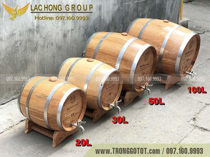 thùng ngâm bằng gỗ sồi
