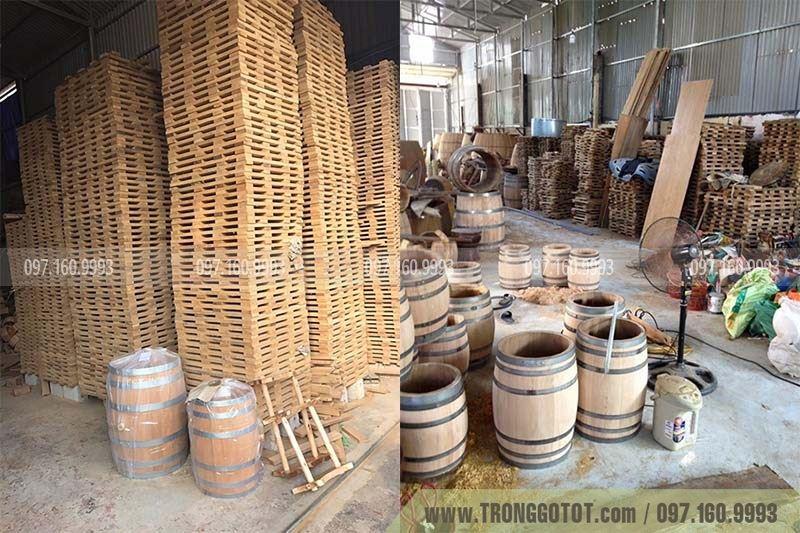 csxx thùng gỗ sồi