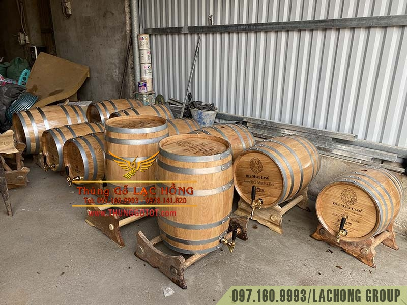 thùng gỗ sồi việt nam