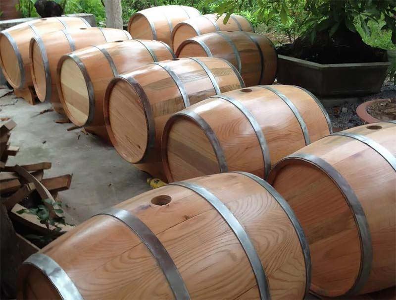 giá bán thùng gỗ sồi