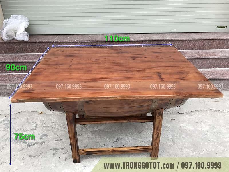 bàn rượu gỗ sồi