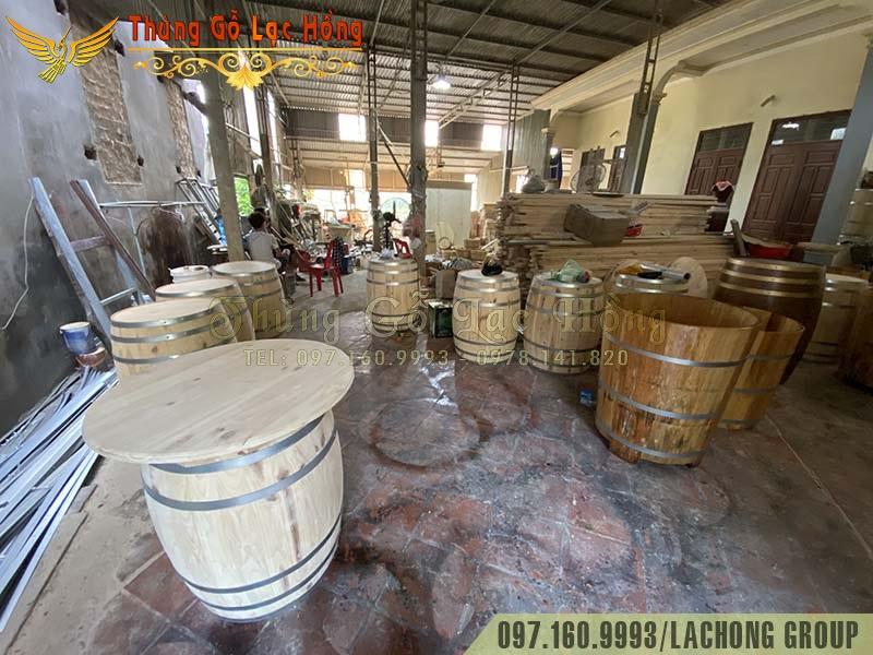 bán thùng gỗ sồi