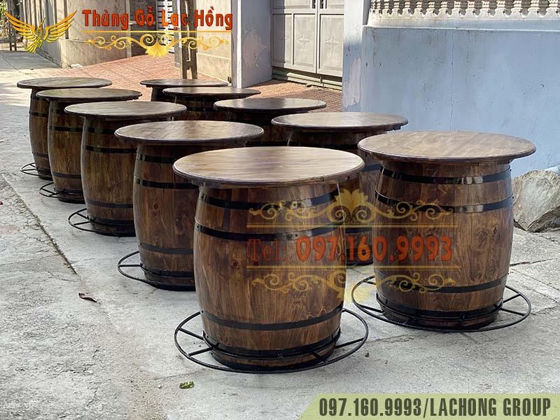 bán thùng rượu gỗ cũ